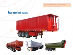 New Design Good Quality Rear Dump Semi Trailer, 3 Axle Tipper Semi Trailer, Rear Tipper Trailer