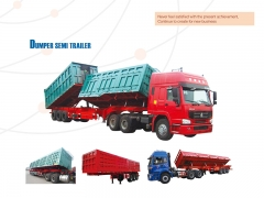 New Design Good Quality Side Dump Semi Trailer, Tipper Semi Trailer, Side Dump Truck Trailer